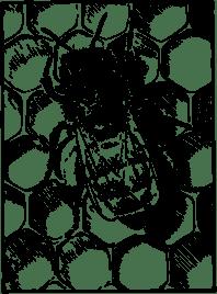honeybeeoncomb-300px